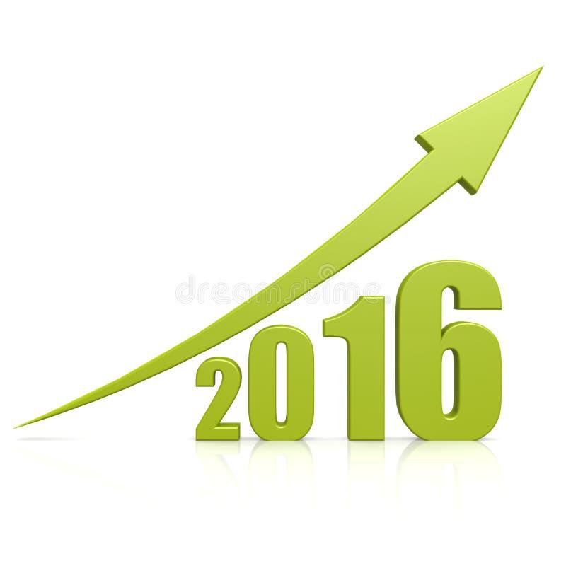 2016年成长绿色箭头 皇族释放例证