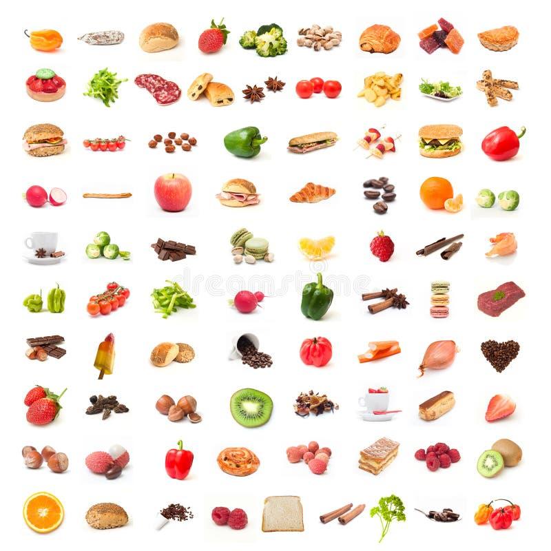 成份食物拼贴画 库存照片
