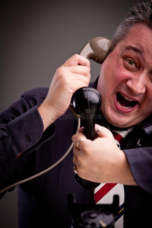 我不可能处理电话! 免版税库存照片