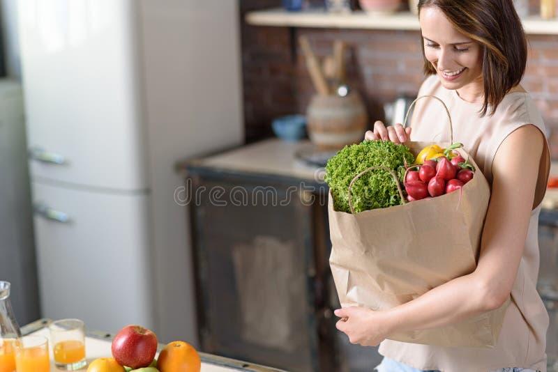 我买仅健康食物 库存图片