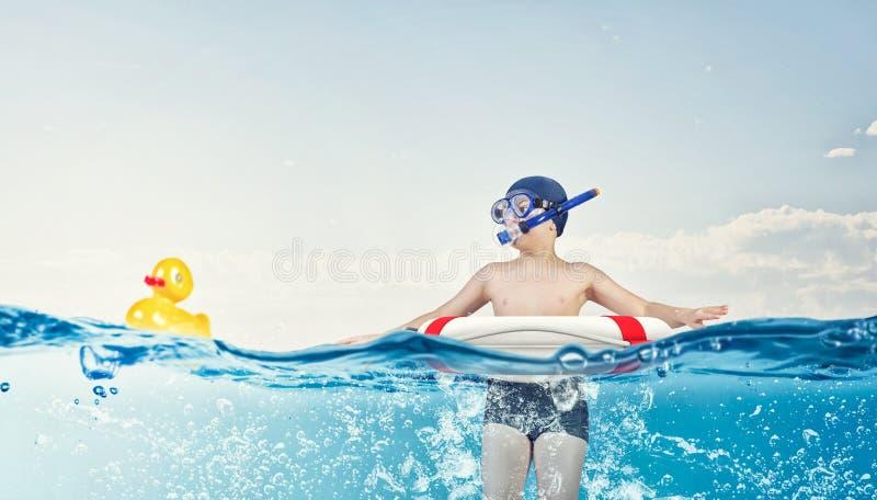 我了不起的暑假 免版税库存图片