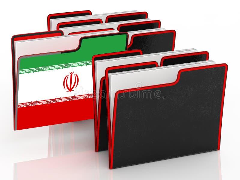 我们伊朗冲突和认可或者会议- 3d例证 向量例证