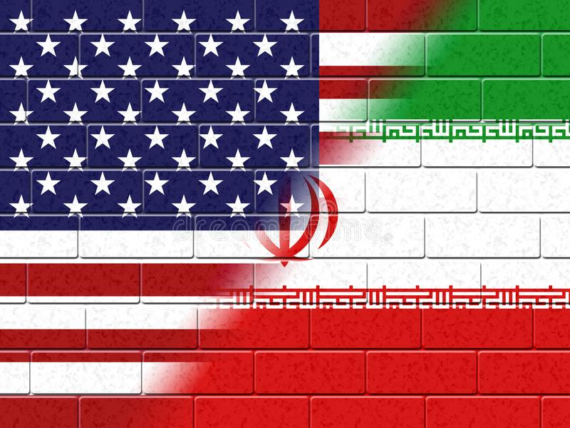 我们伊朗冲突和认可或者协议-第2个例证 向量例证