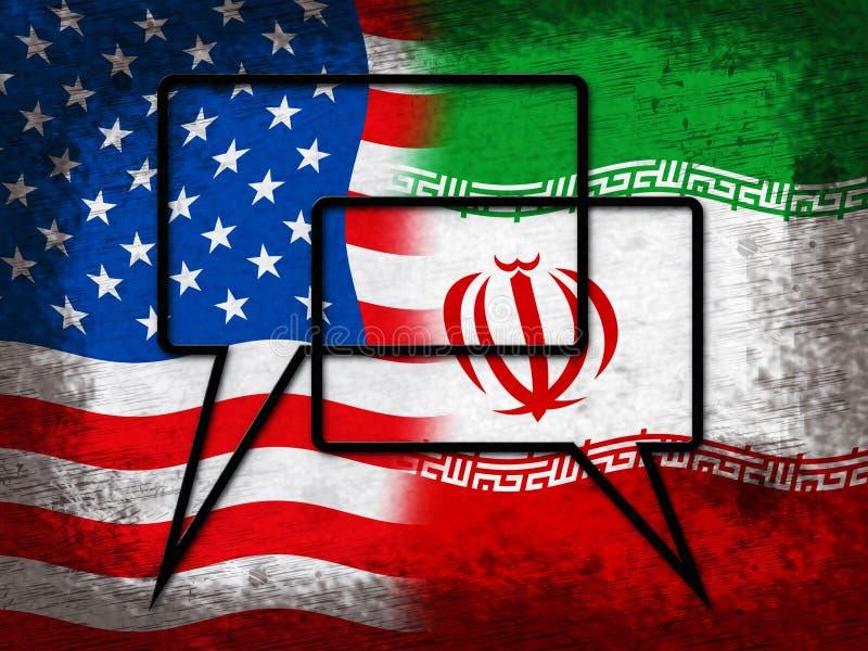 我们伊朗冲突和认可或者协议-第2个例证 皇族释放例证