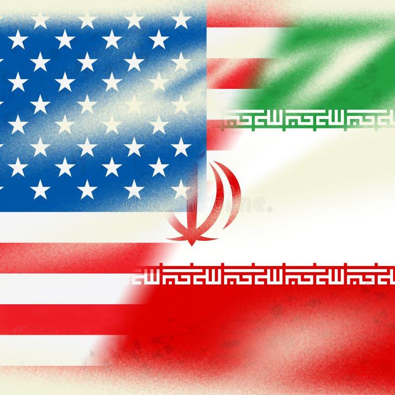 我们伊朗冲突和认可或者和谐-第2个例证 皇族释放例证