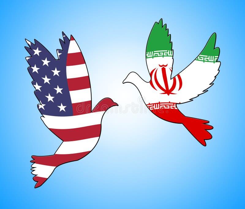 我们伊朗冲突和认可或者和谐-第2个例证 向量例证