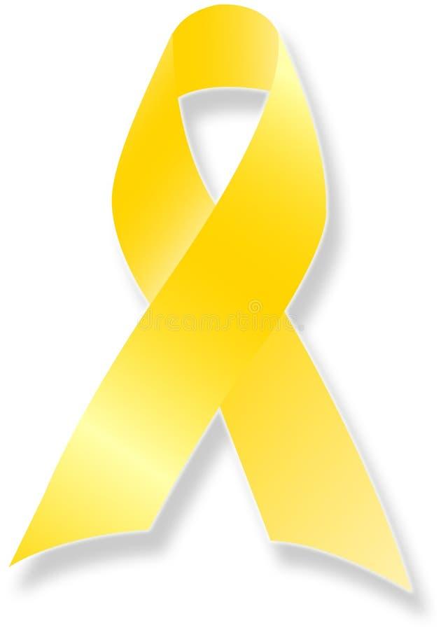 我们切记丝带队伍黄色 皇族释放例证