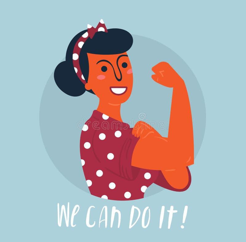 我们可以做它海报 妇女权利,援权 皇族释放例证