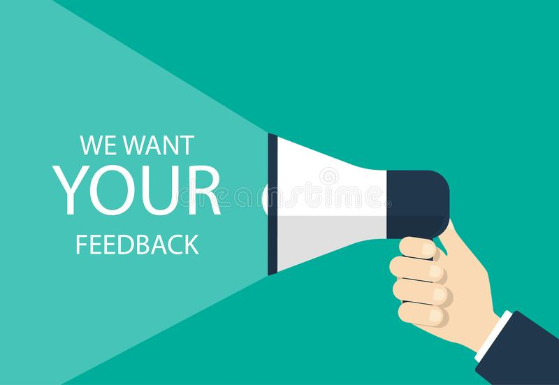 我们想要您的反馈 库存例证