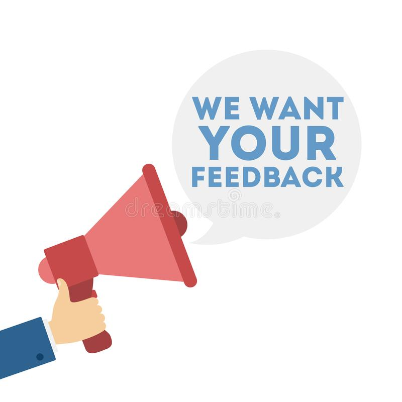我们想要您的反馈 向量例证