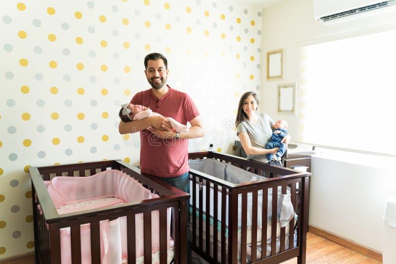 我们是一个保佑的家庭 免版税库存照片
