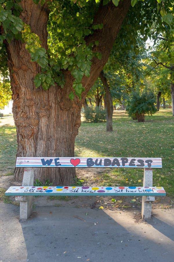 我们爱布达佩斯 免版税库存照片