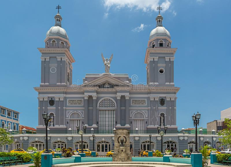 我们的假定的夫人大教堂大教堂,圣地亚哥-德古巴 库存照片