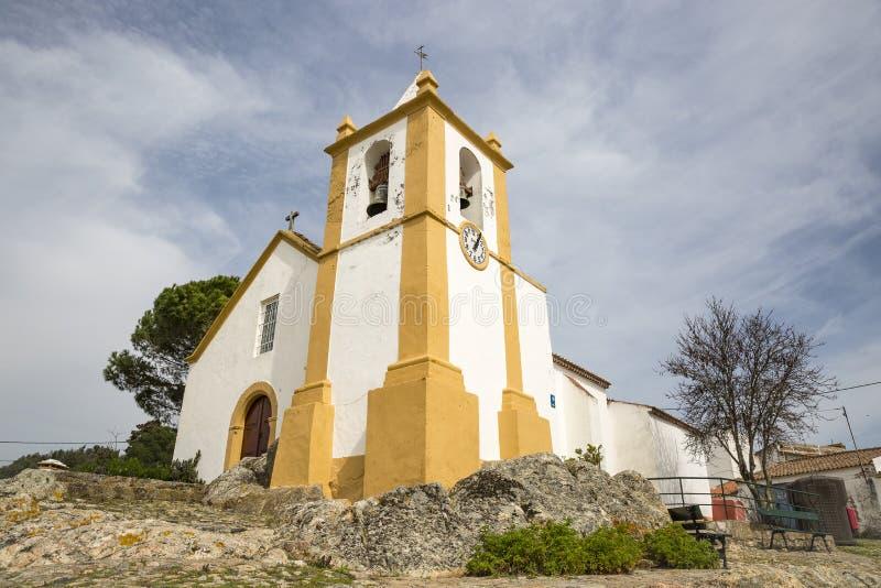 我们的内韦斯教会的夫人修改Pedroso村庄 库存图片
