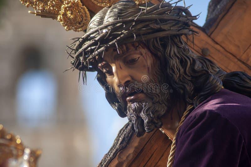 我们的团体老鹰的小山,圣周的谦卑的父亲耶稣塞维利亚 免版税图库摄影