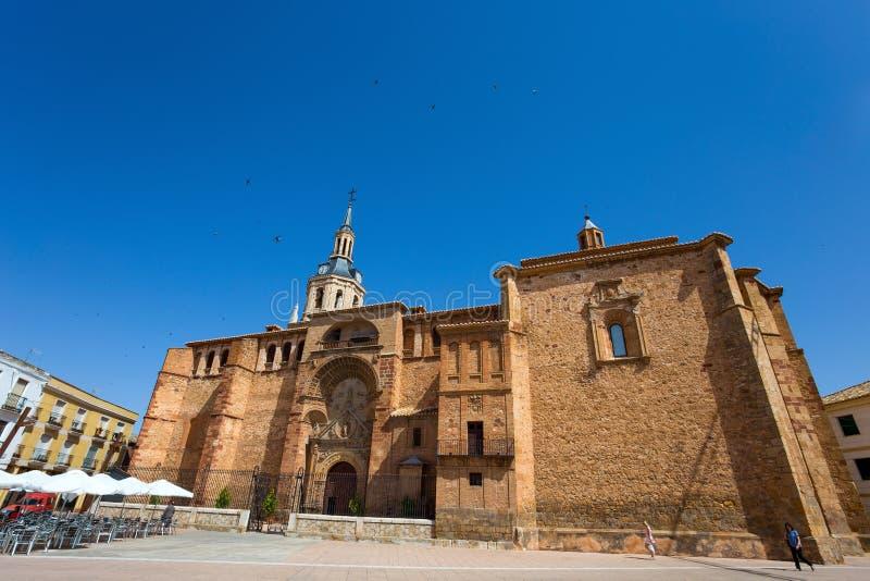我们的夫人假定,曼萨纳雷斯,西班牙教会  免版税库存图片