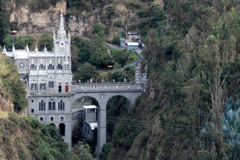 我们的夫人圣所, Las Lajas,哥伦比亚 库存照片