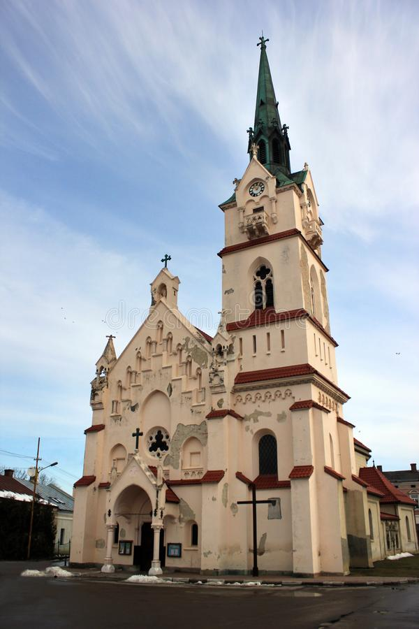 我们的夫人Protectress教会在斯特雷,乌克兰 免版税库存照片