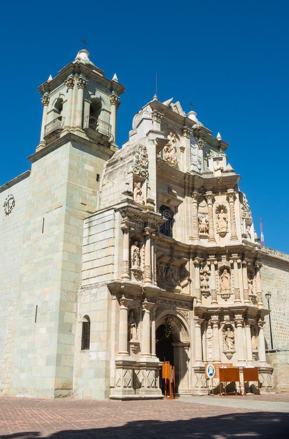 我们的孑然的夫人大教堂在瓦哈卡de华雷斯,墨西哥 免版税库存图片