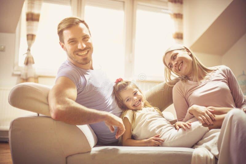 我们的小家庭愉快的家庭 图库摄影
