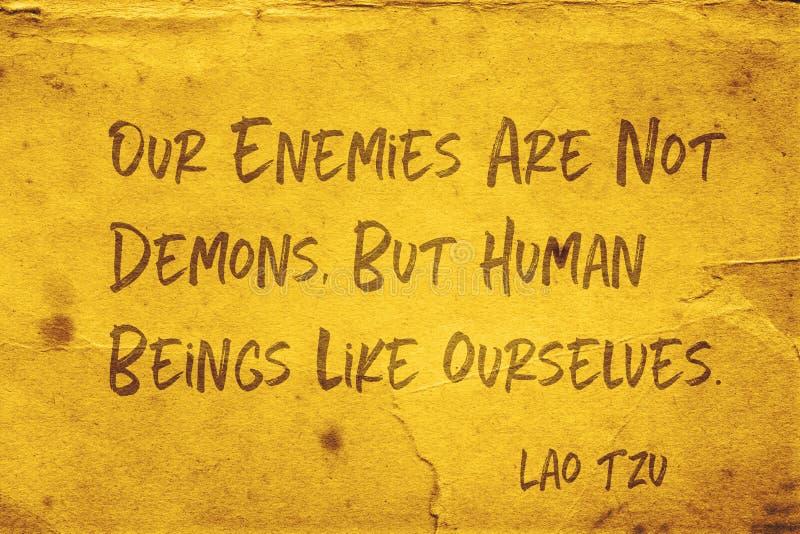 我们的敌人老挝人慈济 库存照片