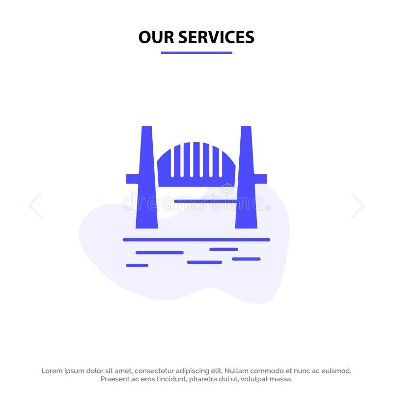我们的服务澳大利亚,桥梁,城市集合,港口,悉尼坚实纵的沟纹象网卡片模板 皇族释放例证