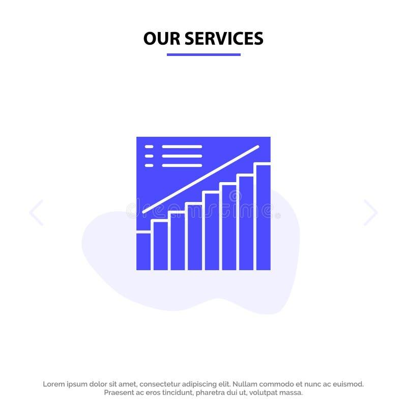 我们的服务绘制,注标,逻辑分析方法,介绍,销售坚实纵的沟纹象网卡片模板 库存例证