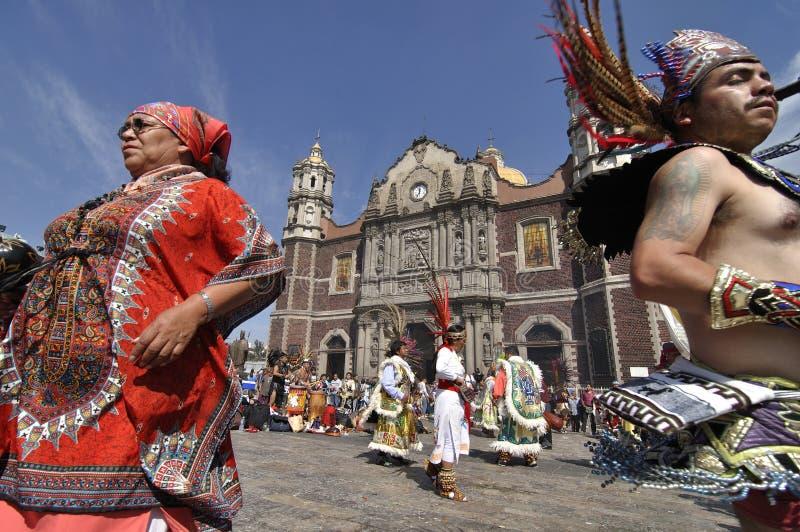我们的瓜达卢佩河的夫人节日  免版税库存照片