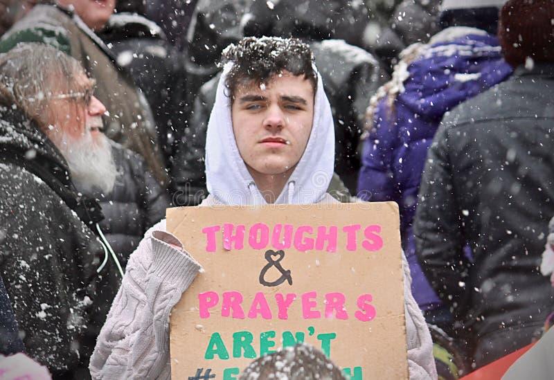 我们的生活`反枪暴力集会的` 3月 免版税库存照片