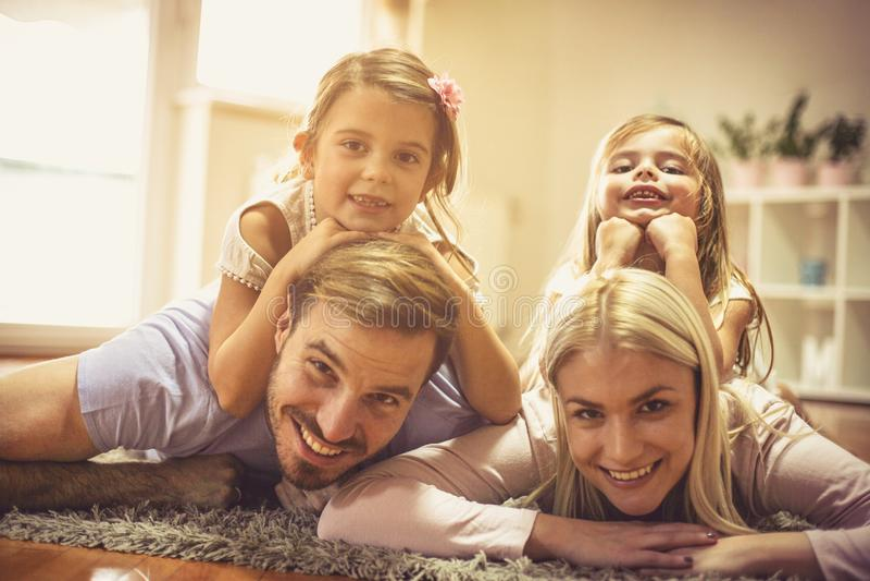 我们的生长家庭 免版税库存图片