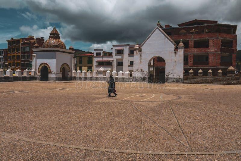 我们的科帕卡瓦纳的夫人大教堂在玻利维亚 库存图片