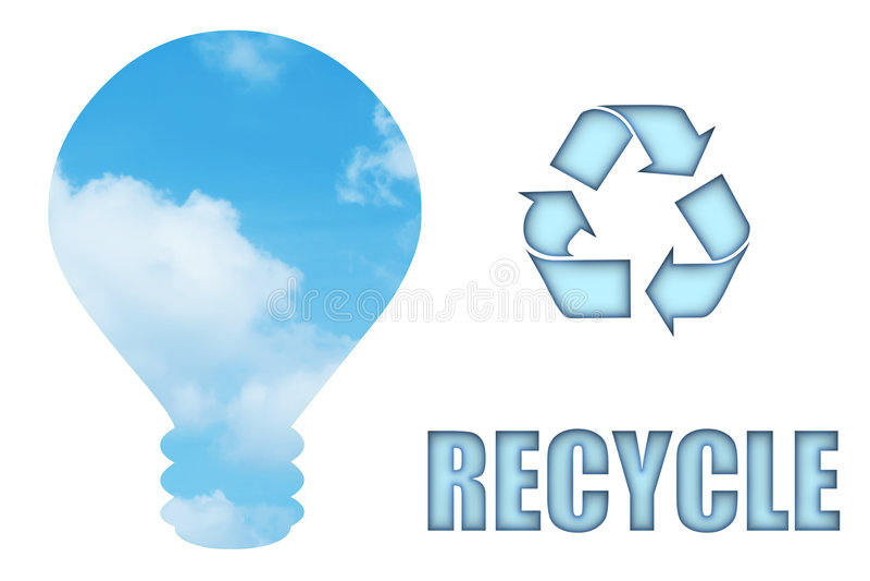 我们的行星回收保存 向量例证