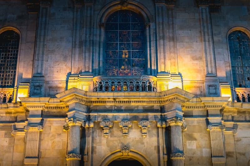 我们的Sameiro的夫人大教堂的建筑细节在拉格附近的 免版税库存图片
