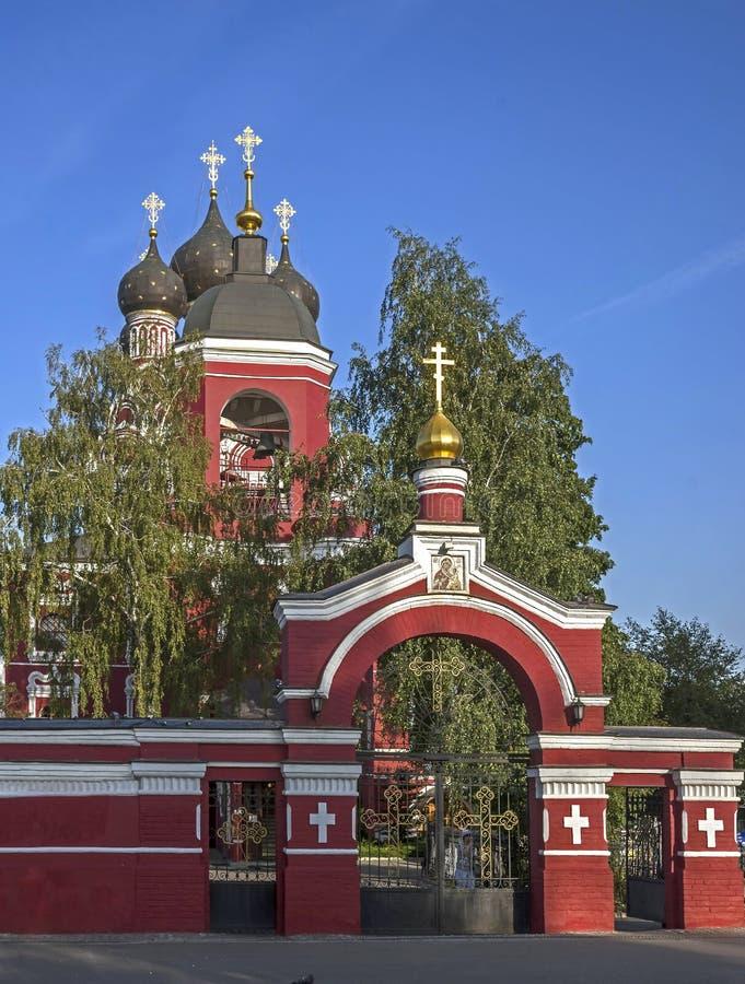 我们的Tikhvin教会的夫人 免版税图库摄影