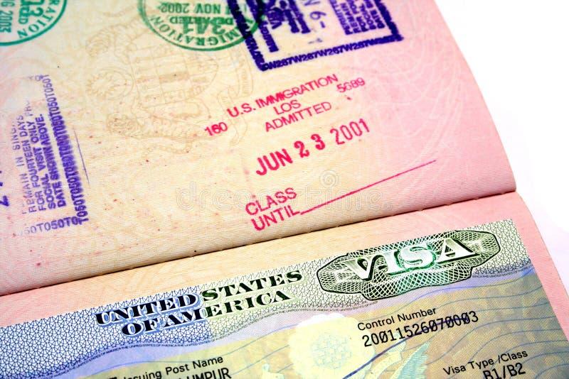 我们签证 免版税库存图片