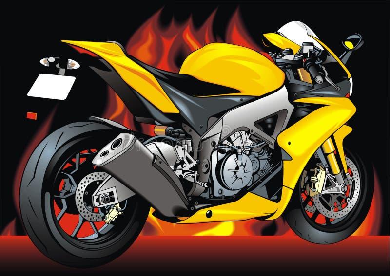 我原始的摩托车设计 库存例证