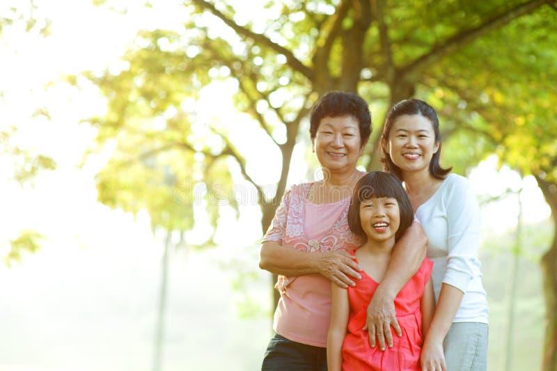我可爱的祖母和母亲 免版税库存图片