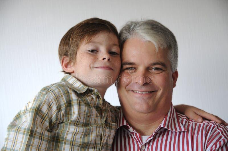 我和我的爸爸 免版税库存照片