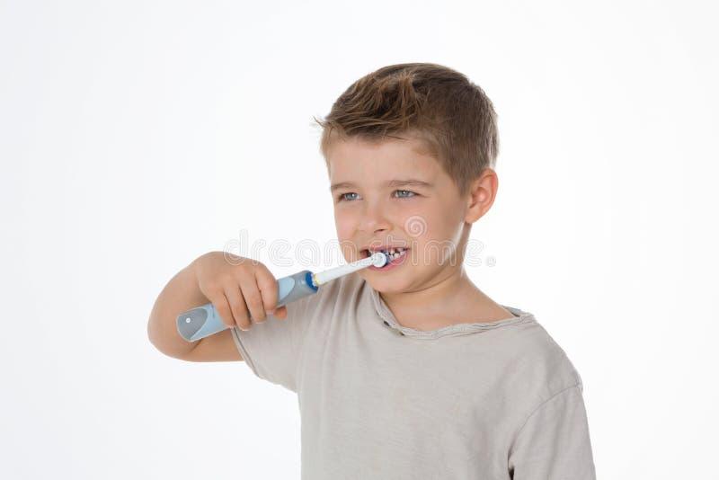 我喜欢清洗我的牙 免版税库存图片