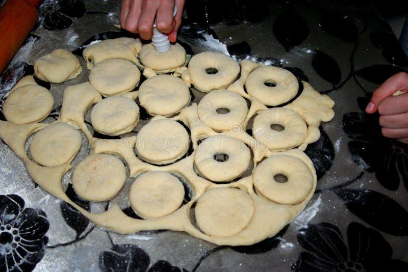 我妻子做的甜甜圈 免版税库存图片