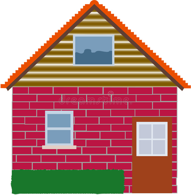 我家庭的房子 免版税库存图片