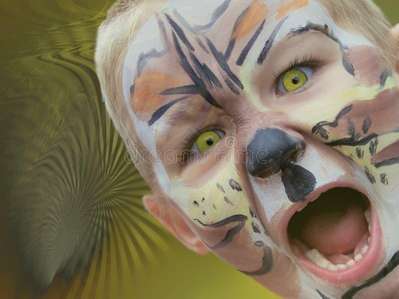 我小的咆哮狮子 免版税库存照片
