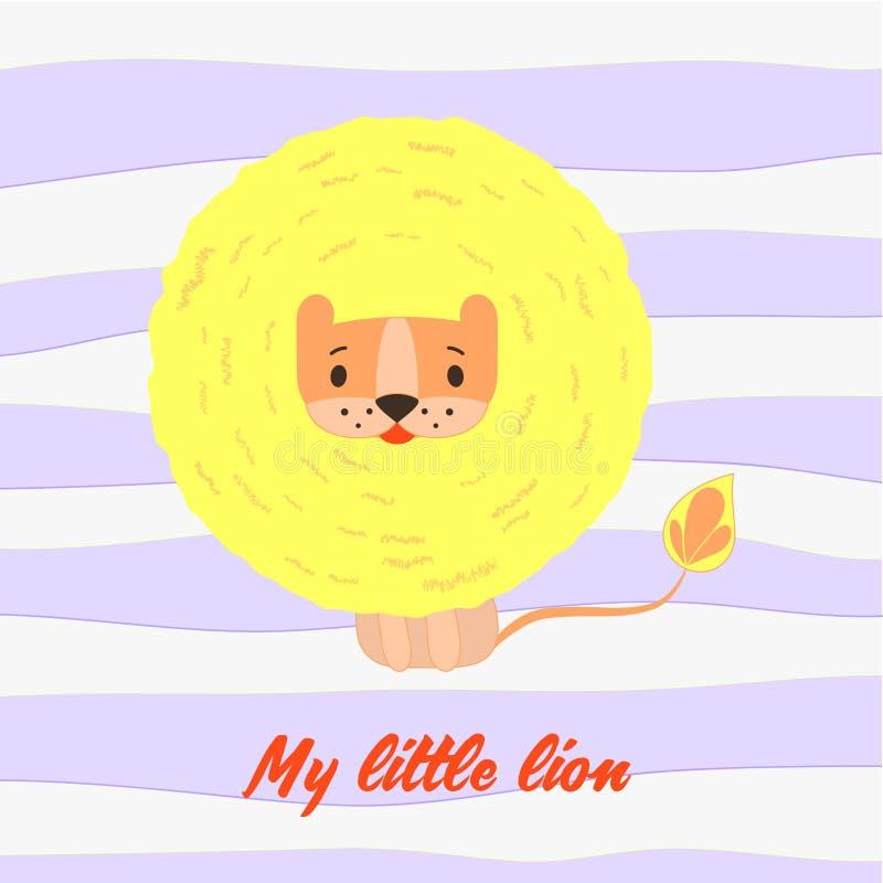 我小的狮子 皇族释放例证