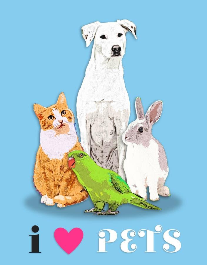 我心脏宠物 免版税图库摄影