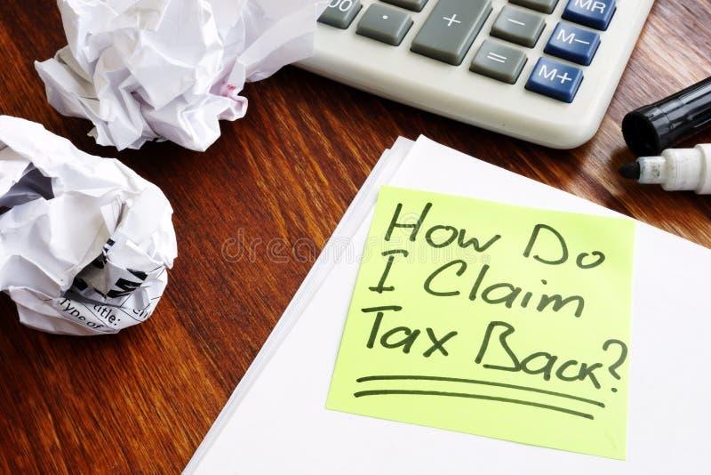 我怎么要求在备忘录写的税 免版税图库摄影