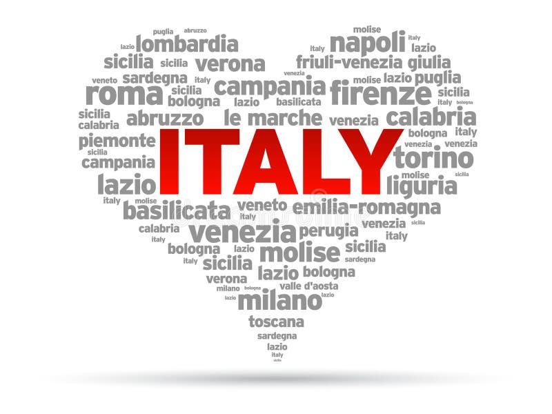 我意大利爱 库存例证