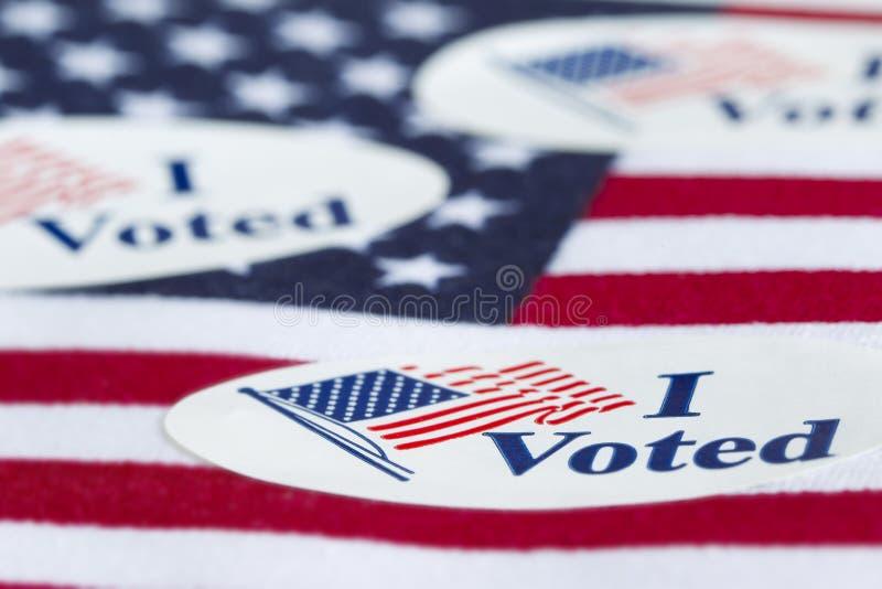 我投票了 免版税库存照片