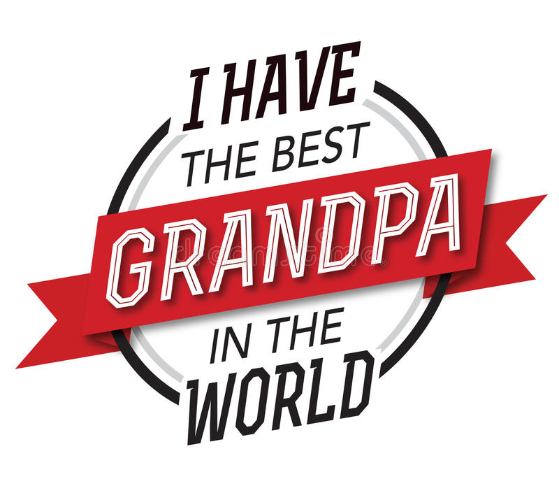 我有最佳的祖父在世界象征 皇族释放例证