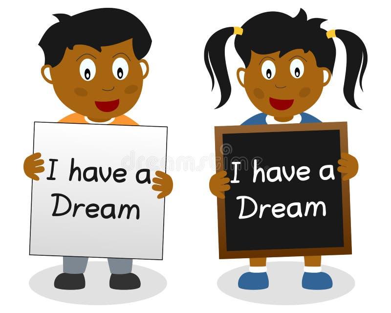 我有梦想孩子 向量例证