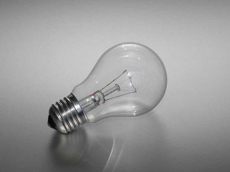 我点燃的电灯泡 免版税图库摄影